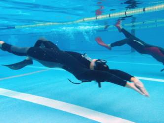 背泳スキンダイビング・トレーニング!