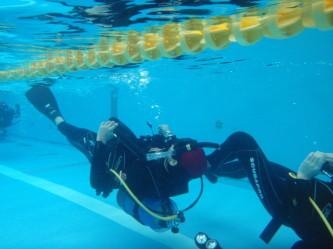 水中能力アップトレーニングなう