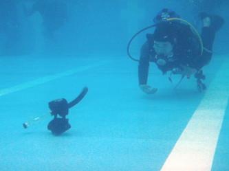 水中のトラブル対応シナリオ練習