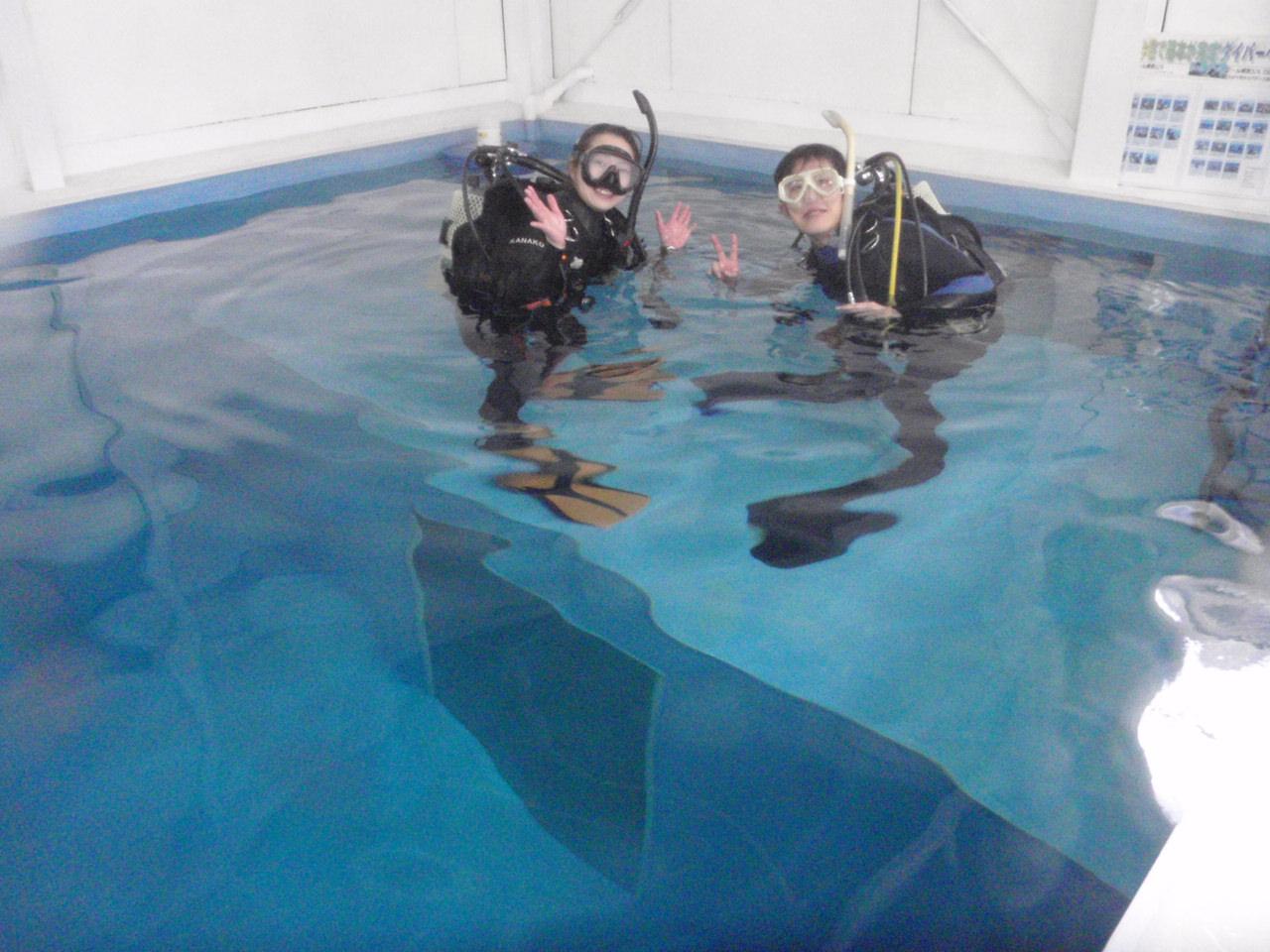 店内プールでスグにじっくりリフレッシュダイビング!