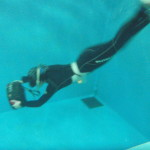水中スクーターに挑戦