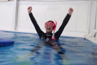 ココモプールでスキンダイビング集中講座。ガッツポーズ、万歳の出るやり甲斐満載コースの巻(^O^☆♪