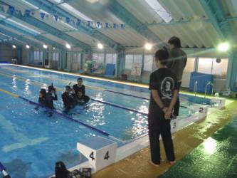 兵庫県立家島高等学校|年内最後の部活動は部活らしく青春を燃焼させひたすら泳ぎます