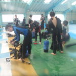 県立家島高等学校でのダイビング、シュノーケル、スキンダイビングレッスン(3学期)