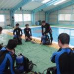 兵庫県立家島高等学校のマリンスポーツ部、スキン&スクーバダイビングレッスン