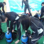 県立家島高等学校、マリン部のスキューバトレーニング!
