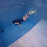 ~水と一体になる~ココモプールで昼下がりに親子でスキンダイビング