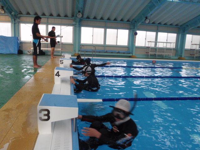 県立家島高校でのダイビング講習