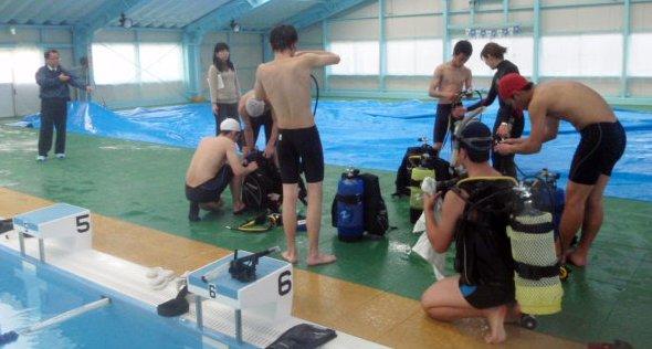 家島高等学校でのダイビング部活動|取材(読売新聞、朝日新聞)
