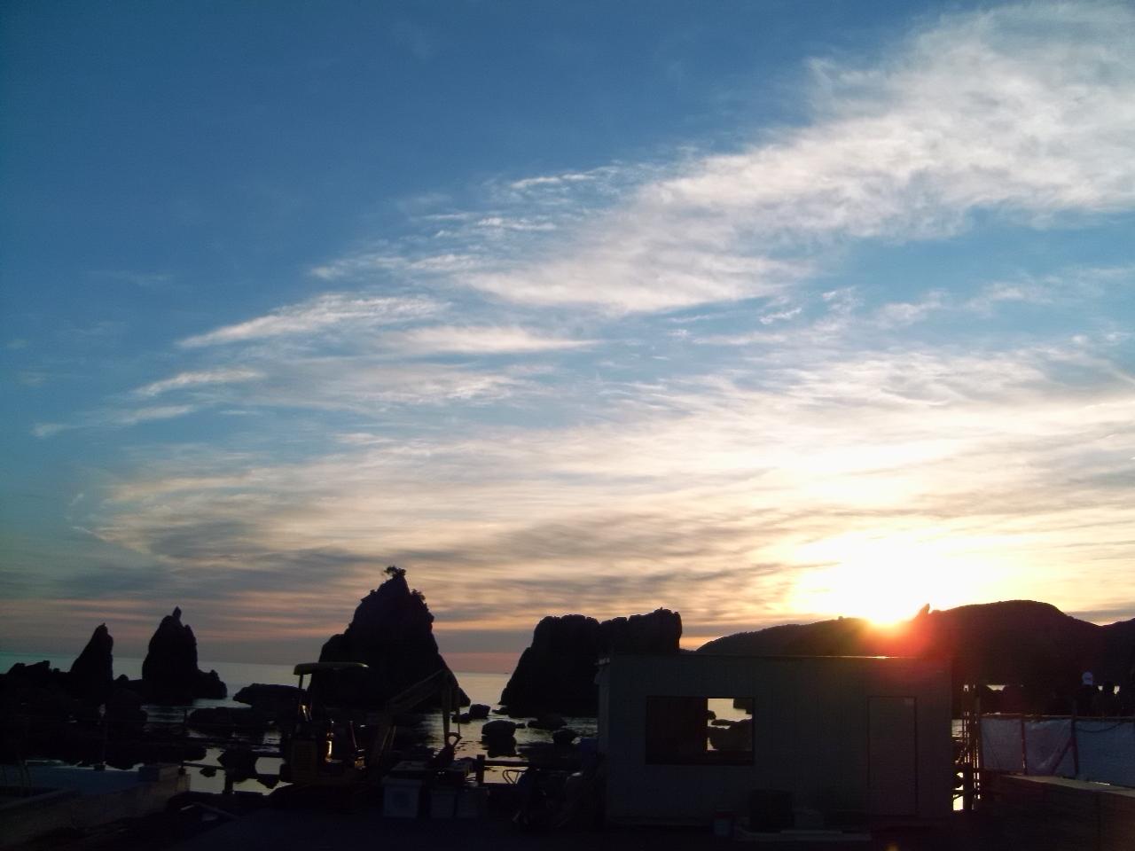 2019→2020の元旦、初日の出は串本の橋杭岩からの2ボートダイビング