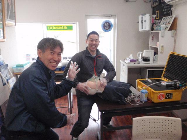 ダイビング指導者(酸素供給法、器材スペシャルティ)養成講習会(徳島からウエルカムバック)