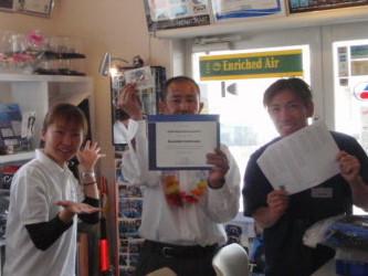 ダイビングライセンス取得講座とPADIアシスタントインストラクター認定!