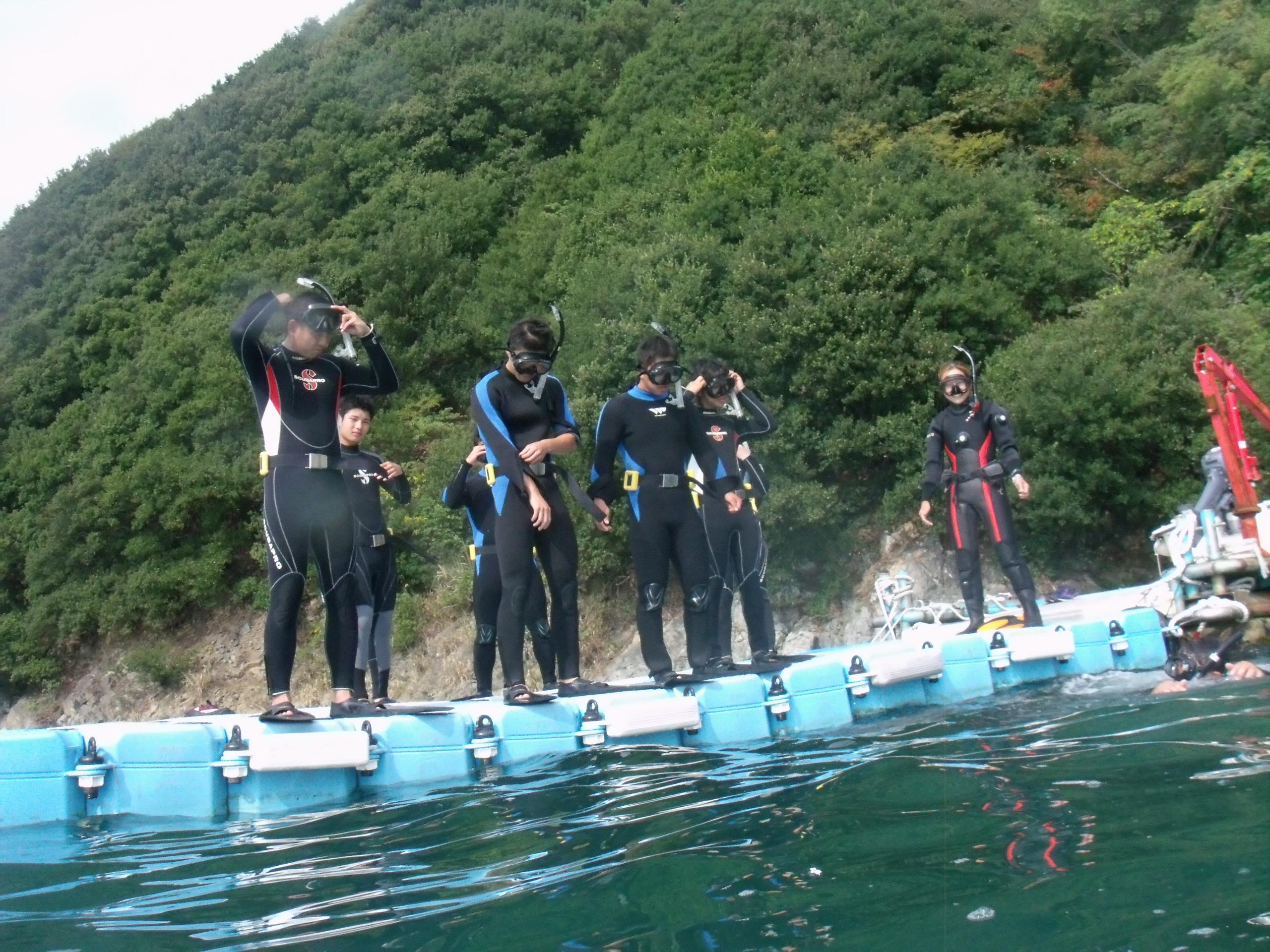 瀬戸内の県立家島高等学校でダイビング(授業)