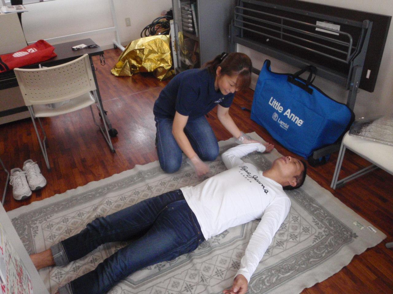 9月9日は救急の日、レスキューダイバーを目指してEFR(救急法救助員)の資格講座にご参加いただきました