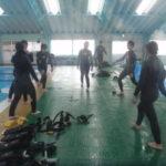 県立家島高等学校、2年生、1年生、マリンスポーツ部(ダイビング、スノーケル、スキンダイビング実習)