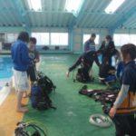 家島高校、ダイビング授業(3年生、3学期最後!)