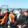 ジオパークの青い海でアドバンス、ダイブマスター、インストレベルアップコースなどなど