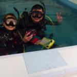 温水★店内プールだから!新しい水中カメラを海に出る前に各機能を練習しましたー!