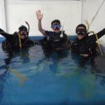 ダイビングライセンスコースとプロコースの実習