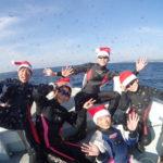 クリスマスイブイブは海中でサンタダイバーになってみる