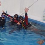 ココモプールに、ダイビングのプロが集結!インストラクタートレーニング!